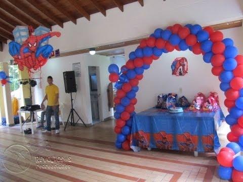 Decoracion del hombre ara a fiestas infantiles youtube - Como decorar un estanque ...