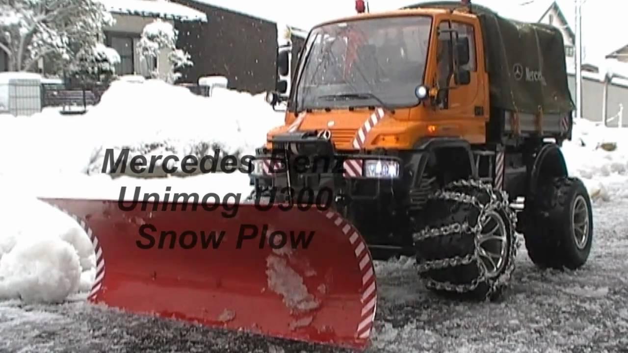Rc Snow Plow Unimog U300 Youtube