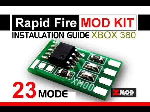 XMOD Rapid Fire Mod Chip.How to Install 23 Mode.installation modded XBOX PS3 PS4 18 20 AW scuf BO3