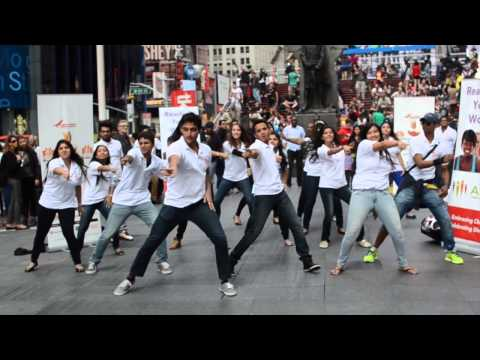 Diwali At Times Square Flash Mob video