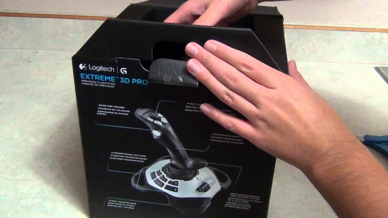 Logitech Extreme 3D Pro USB Joystick Unboxing