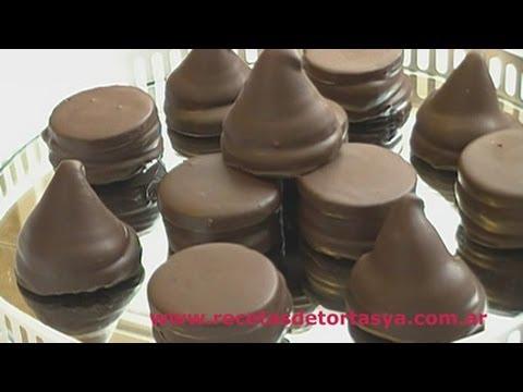 Conitos de dulce de leche y Alfajorcitos de Chocolate - Recetas de Tortas YA!