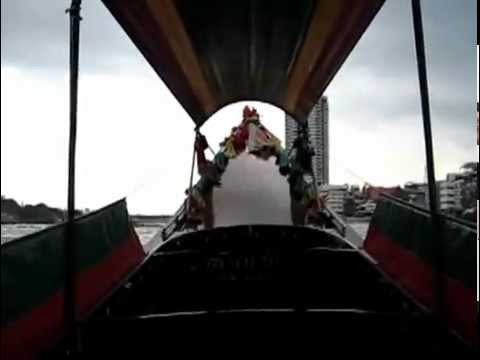longtail boat ride on the Chao Phraya