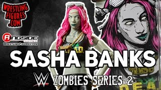 WWE FIGURE INSIDER: Sasha Banks - WWE Zombies Series 2 WWE Toy Wrestling Action Figure