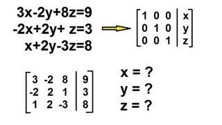 Algebra - Solving Simultaneous Linear Equations by Gauss-Jordan Elimination 3 by 3
