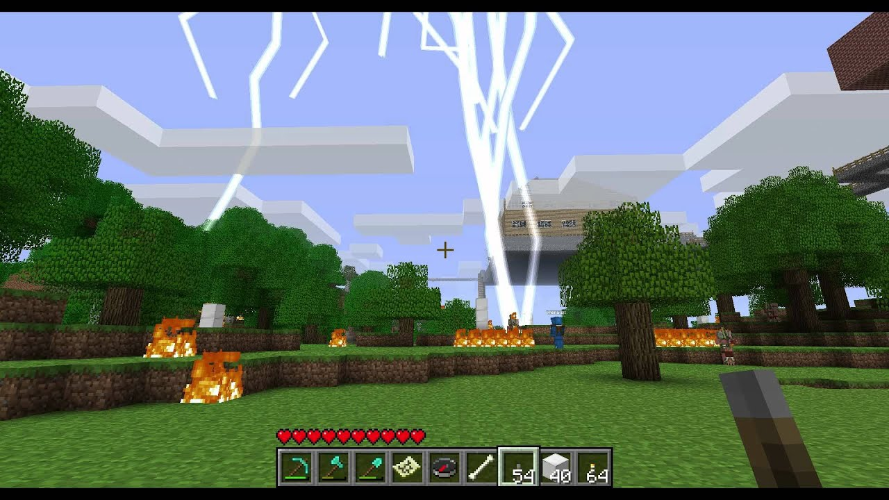 how to clear weather in minecraft pocket edition