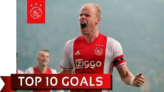 TOP 10 GOALS - Ajax in 2016