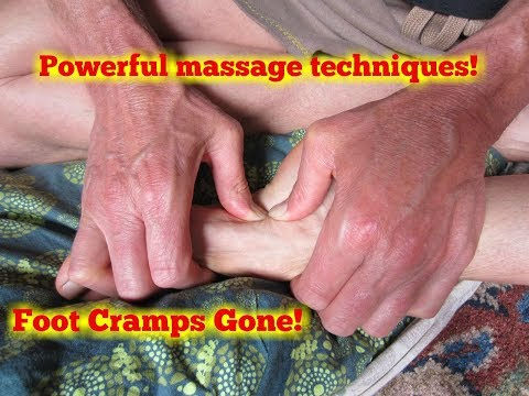 Foot Cramps.  How To Release A Cramp Using Reflexology. video