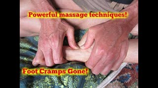 Foot Cramps.  How to Release a Cramp using Reflexology.