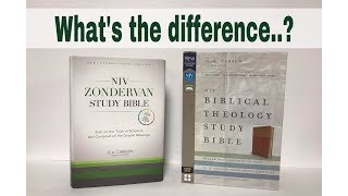NIV Zondervan Study Bible and NIV Biblical Theology Study Bible Layout Comparison