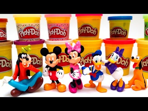 Mickey Mouse Clubhouse Toys Collection Play Doh Minnie Mouse Bowtique Disney Characters Disneyland video