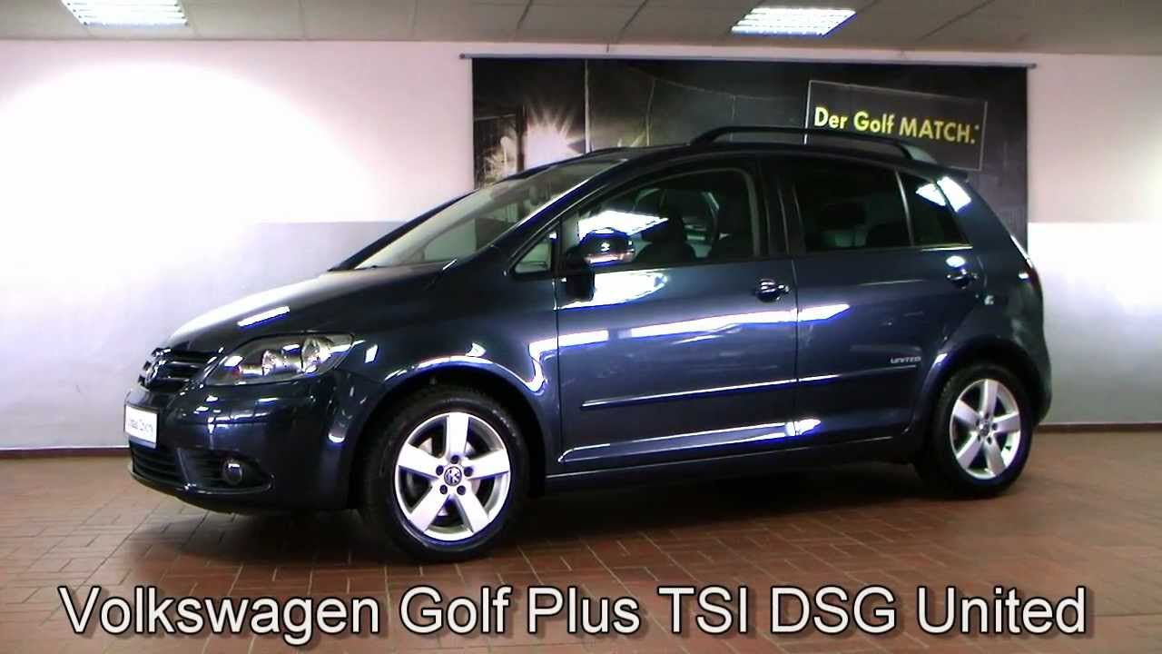 volkswagen golf plus 1 4 tsi dsg united 2008 blue graphit. Black Bedroom Furniture Sets. Home Design Ideas