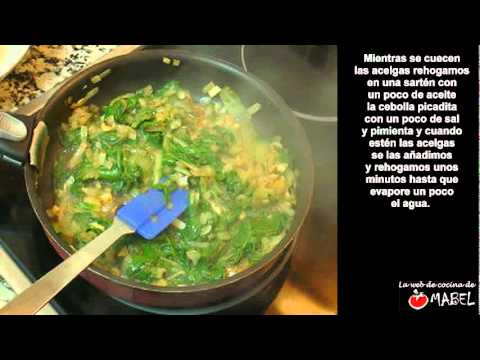 Tortilla de acelgas - La web de cocina de Mabel