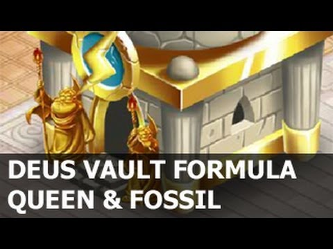 DEUS VAULT Formula for QUEEN Dragon and FOSSIL Dragon in Dragon City