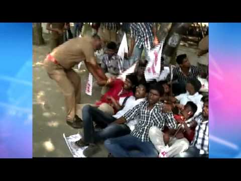 Obama Visit To India - Students Protested Against Obama - Brutally Treated By Madurai Police video