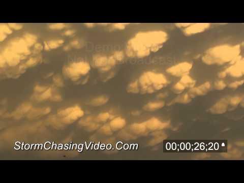 5/30/2011 Lexington, NE Mammatus Clouds stock footage