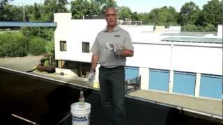 How to Apply White roof Coatings over asphalt roofs - KARNAK