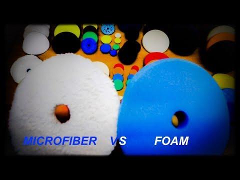 MICROFIBRE VS FOAM PADS. REVIEW OF MACHINE POLISHING PADS