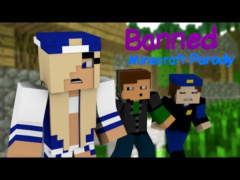 ♫ banned ♫ - Minecraft Animated Music Parody Of Miley Cyrus's wrecking Ball video