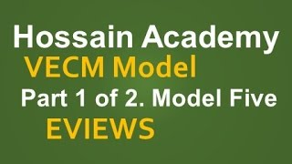 VECM. Part 1 of 2. Model Five. EVIEWS