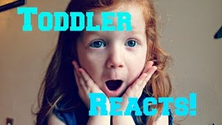 Toddler Reacts to Frozen Fever Trailer