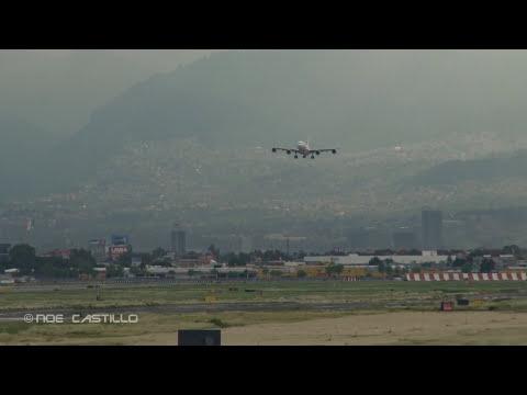 https://twitter.com/noeaviacion Iberia A340-600 - Go Around Mexico City Airport Aproximación Frustrada (Fallida) - Ida al Aire por no alinearse a la pista durante el viraje final al AICM a...