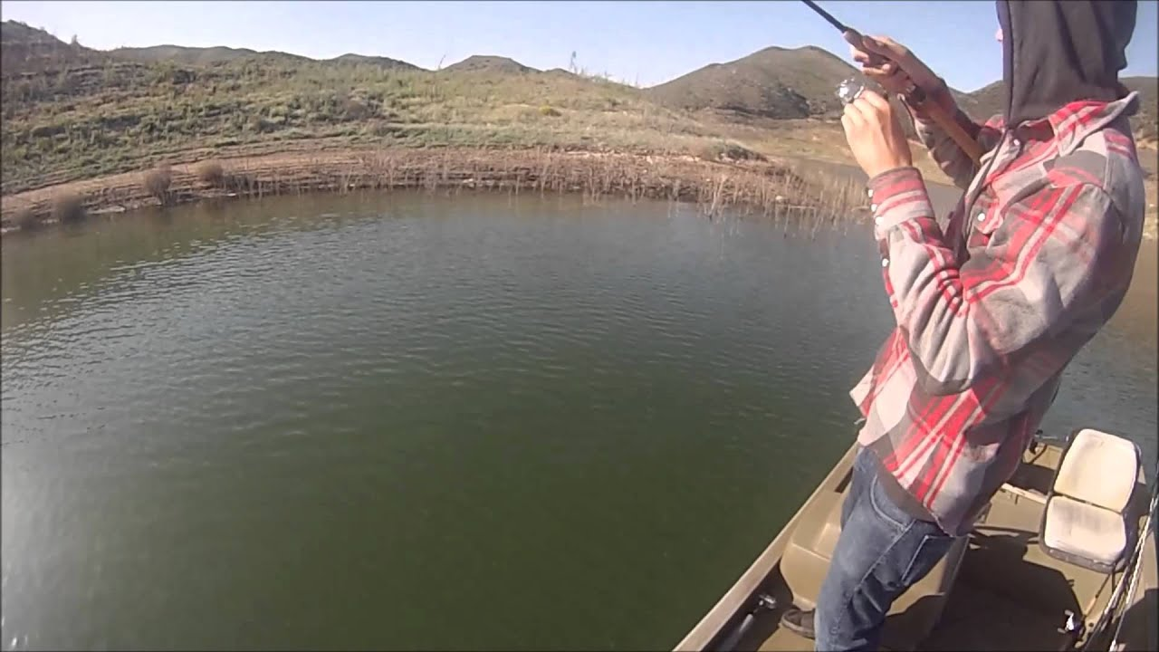Fishing diamond valley spring 2014 youtube for Diamond valley lake fishing report