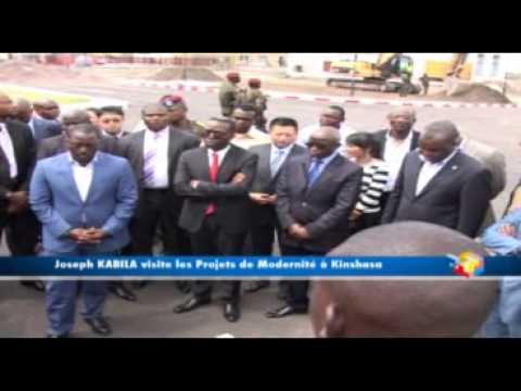 Joseph Kabila visite les projets de la Révolution de la Modernité