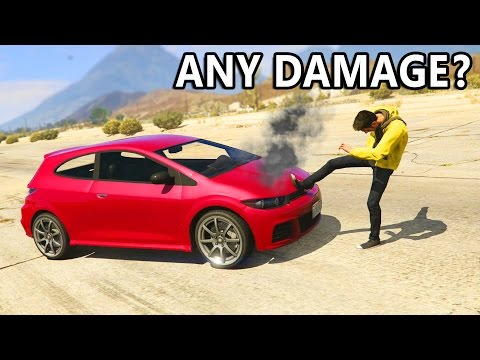 GTA V - Can you Destroy a car by Punching?