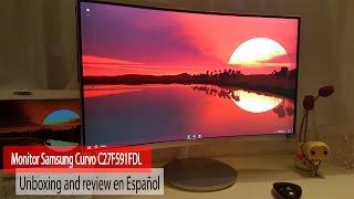 Monitor Samsung Curvo C27F591FDL | Unboxing and review en Español