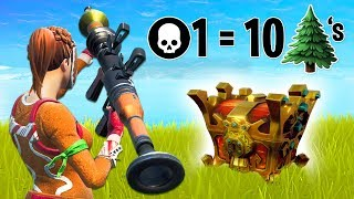 1 KILL = 10 TREES for MR BEAST!! (Fortnite Battle Royale)