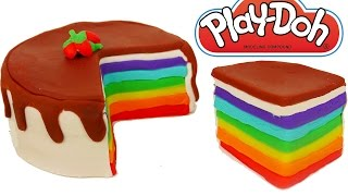 Play Doh Rainbow Cake How to Make Play Dough Food Video for Kids
