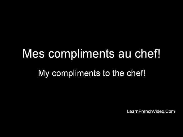 French Restaurant Vocabulary