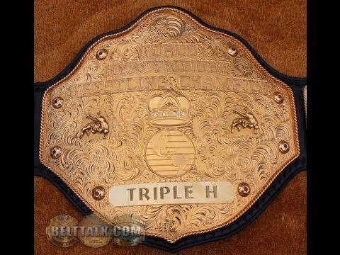 Real CRUMRINE NWA WCW WWE Cast Big Gold Wrestling Championship Title Belt Handmade Dave Millican