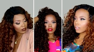 OUTRE CURLY WIG LOOKBOOK | OUTRE HAWAIIAN VS OUTRE AMBER LACE FRONT WIG | TASTEPINK
