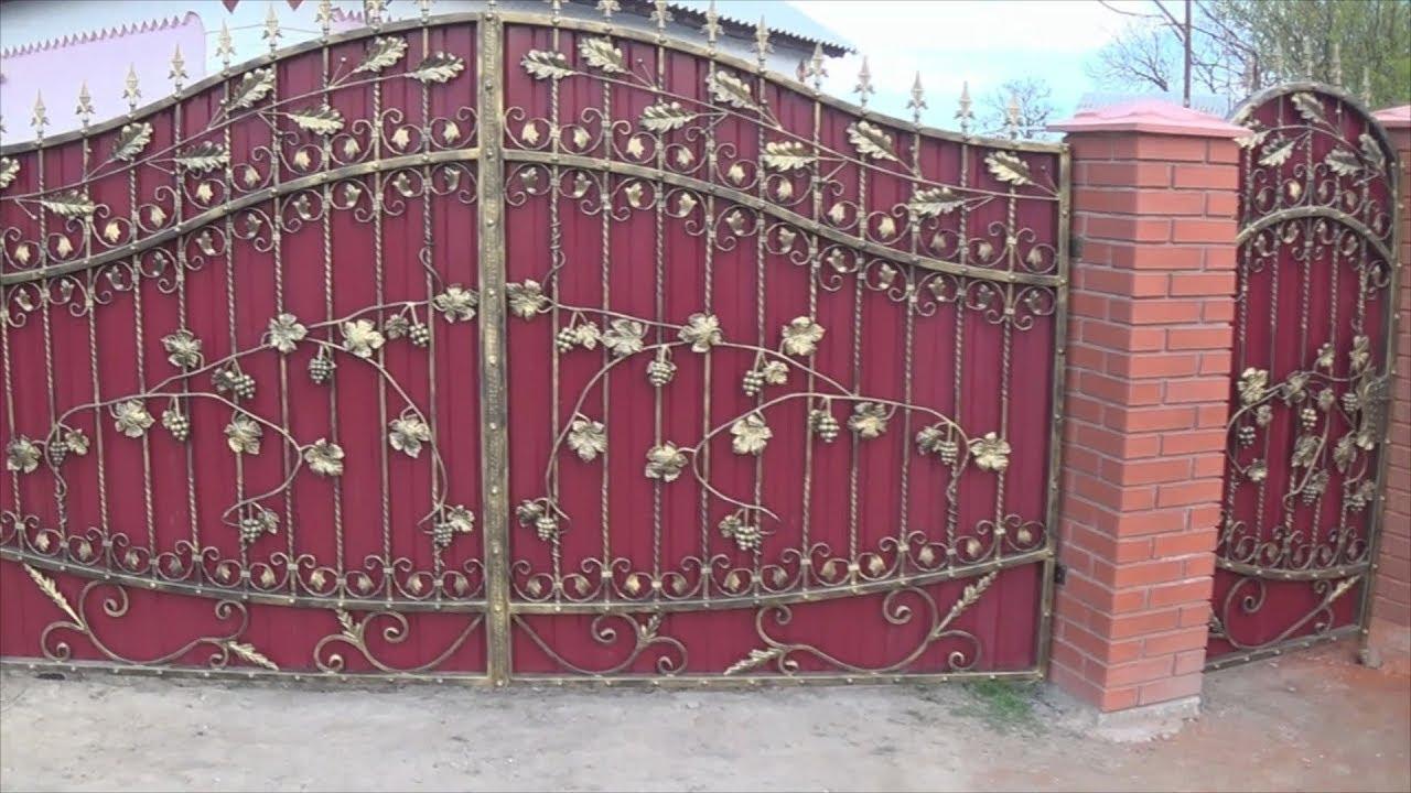 Ворота с кованными элементами своими руками