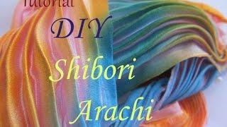 ♡Шовкова стрічка Сіборі в техніці Арасі/Техника шибори/DIY Silk Arashi Shibori #1