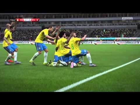 FIFA 16 MODO CARRERA JUGADOR   MEXICO VS BRASIL SEMIFINAL CARDIACA DE LA COPA AMERICA   #4