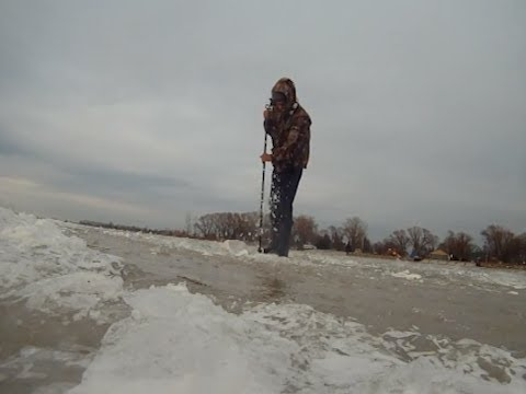 Lake st clair ice report mitchells bay jan 18th youtube for Ice fishing lake st clair