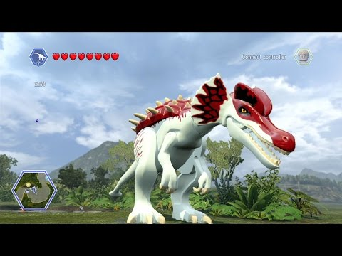 LEGO Jurassic World - Customize | Create Dinosaur Baryonyx | Free Roam Gameplay [HD]