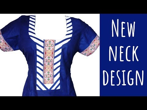 New Creative Neck design for ladies kurti.