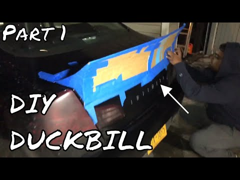 DIY DUCKBILL SPOILER PART 1