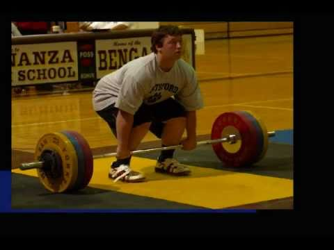 2011 National Power Clean Championship   Joe Graen  Heavyweight Champ - 340 LBS Power Clean Image 1