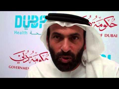 Eng. ESSA AL MAIDOOR- DG of Dubai Health Authority speaks to WILLIAM FARIA