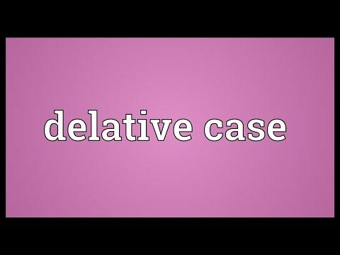 Header of delative