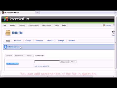 RSFiles! - Joomla! download manager - backend overview.avi