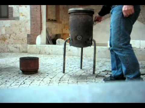 La pirolisi di nedo lavorini youtube for Stufa autocostruita