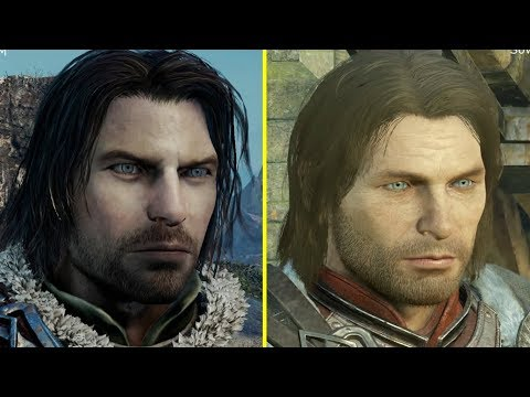 Middle Earth Shadow of Mordor vs Shadow of War Character Model Comparison