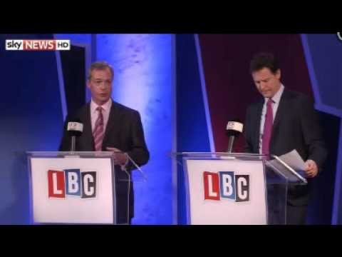 Farage Wins Europe Debate With Clegg: Poll