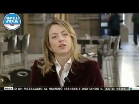 """Giorgia Meloni ospite a """"Un caffè con…"""" SkyTG24"""